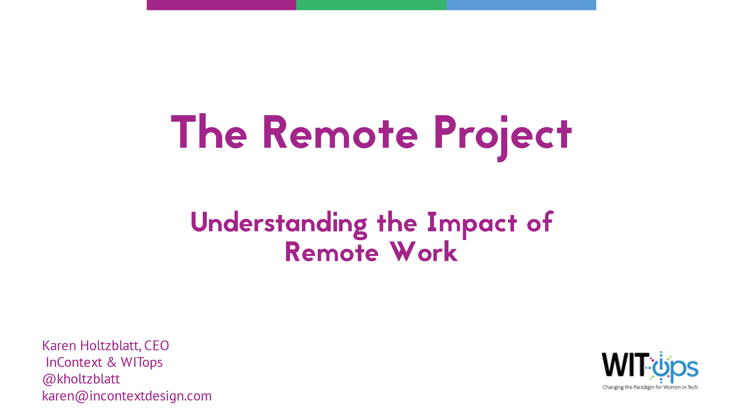 The Remote Work Project (Title Slide)